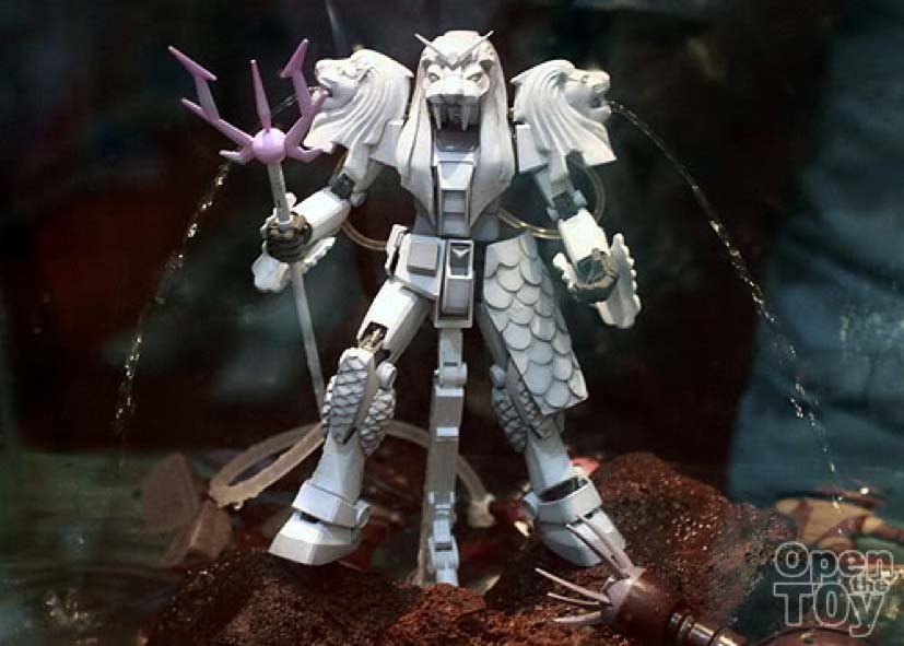 Limited edition Three-Headed Merlion Gundam by Bandai