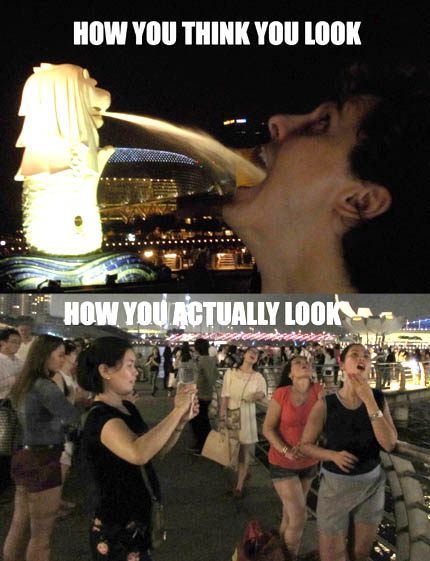 Veni, vidi, vici the Merlion