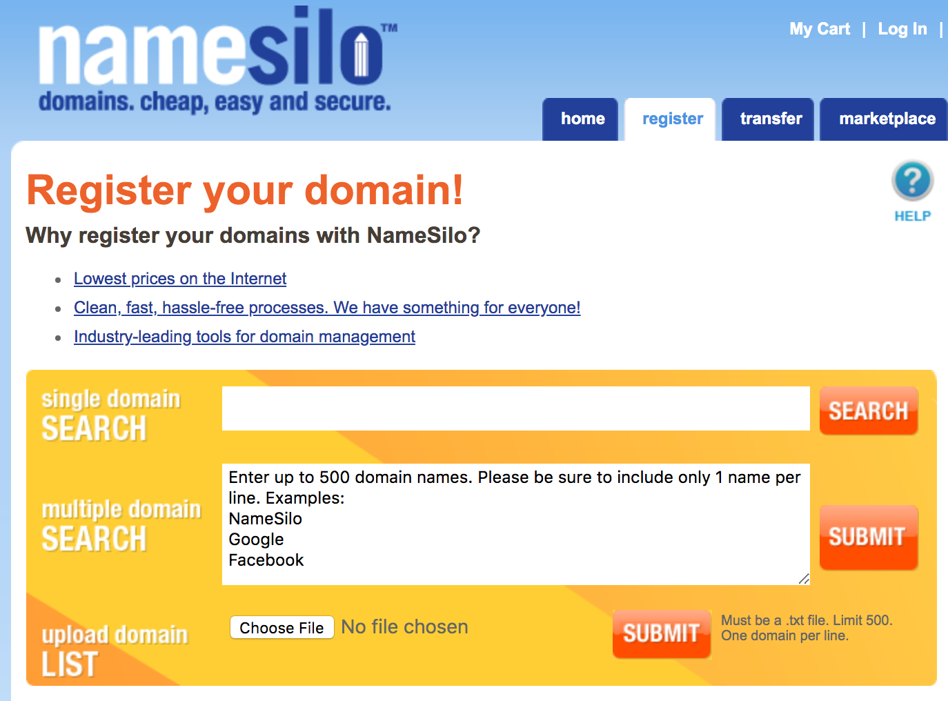 namesilo-register-domain-names